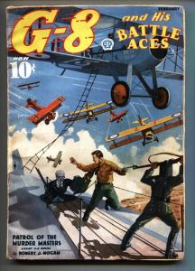 G-8 and His Battle Aces Pulp September 1937-Aviation hero pulp- VG