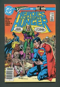 Heroes Against Hunger 1  /  9.0 VFN/NM  / Newsstand / August 1986