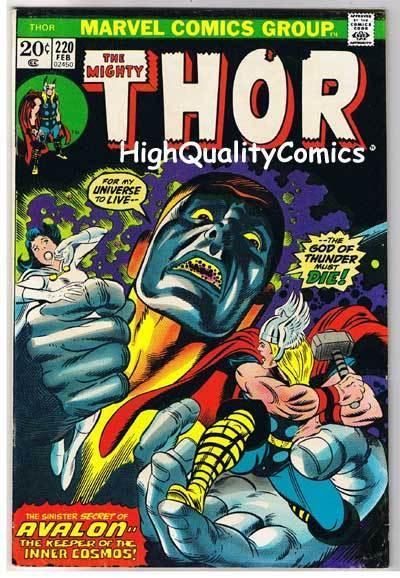 THOR #220, FN+, God of Thunder, John Buscema, 1966, more Thor in store