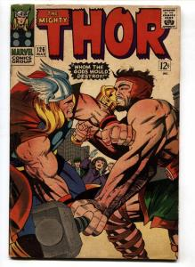 THOR #126-JACK KIRBY- -1966-MARVEL KEY ISSUE-HERCULES COVER-vg