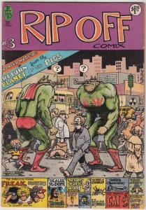 Rip Off Comix #3 (Jan-78) VG/FN Mid-Grade Wonder Wart-Hog, Freak Brothers, Fa...