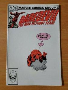 Daredevil #187 Direct Market Edition ~ NEAR MINT NM ~ 1982 Marvel Comics