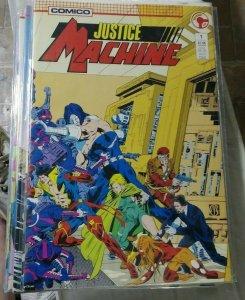 justice machine # 1 3-16 18 19 21-27 29+annualls+new justice 1 1987 comico
