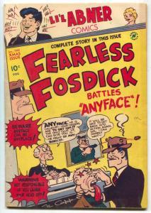 Li'l Abner #68 1949- FEARLESS FOSDICK battles Anyface FN