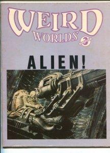 Weird Worlds #3 1979-Buck Rogers poster-Star Trek-Alien-Dracula-VG+