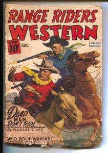 Range Riders Western  8/1946-Thrilling-Steve Reese hero pulp-gunfight cover-G