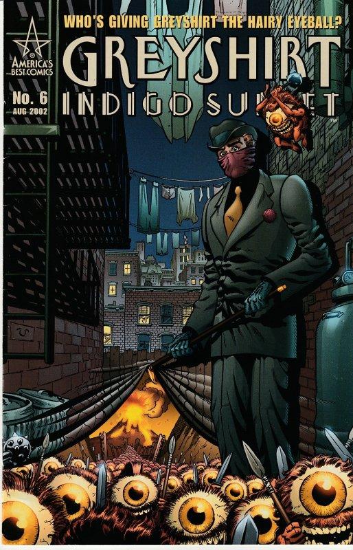 Greyshirt – Indigo Sunset # 1,2,3,4,5,6 Alan Moore's tribute to the Spirit !