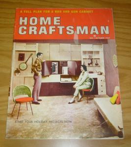 Home Craftsman Magazine #175 VG/FN october 1961 - volume 30 #3 rod & gun cabinet