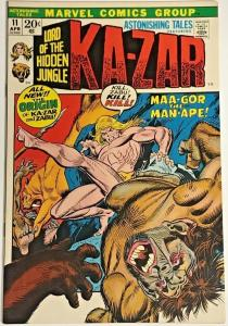 ASTONISHING TALES#11 VF 1972  KA-ZAR MARVEL BRONZE AGE COMICS