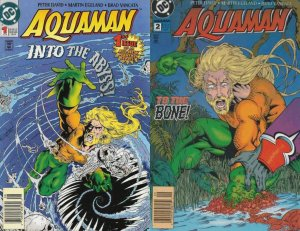 Aquaman #1-2 Newsstand Covers (1994-2001) DC Comics - 2 Comics