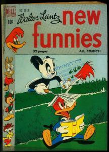 NEW FUNNIES #164 1950-WALTER LANTZ-WOODY WOODPECKER DELL VG