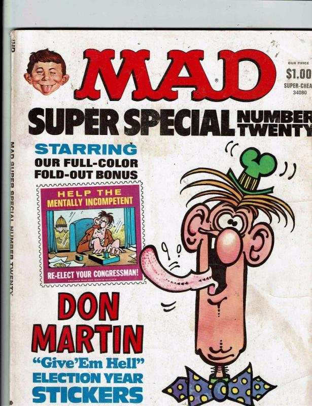 Mad Super Special # 20 Comic Book Magazine Comedy Parody Insert Included J146