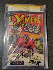 X-Men #4 - 4.5 - SIGNED BY STAN LEE - CGC