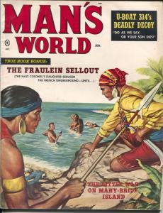 Man's World 10/1959-spicy pulp-Nappi-Julian Paul-exploitation-teror ring-VG