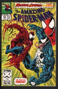 AMAZING SPIDER-MAN #378-MARVEL COMICS NM-VENOM-CARNAGE