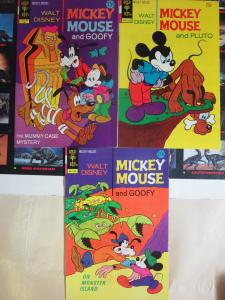 Walt Disney's Mickey Mouse and Goofy (Gold Key 1972-74) VF Lot (#136 148 149)