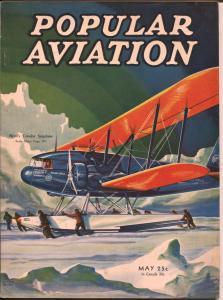 Popular Aviation 5/1934-Admiral Byrd's Condor Seaplane-H.R. Bollin-FN