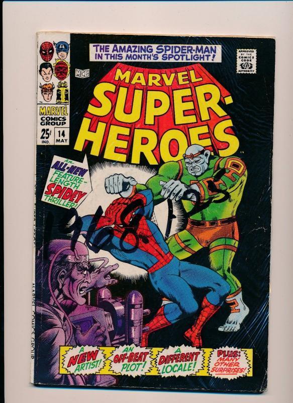 Marvel Super-Heroes SPIDER-MAN #14 SILVER AGE G/VG (SRU564)