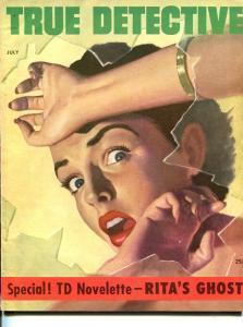 TRUE DETECTIVE-JULY 1953-G-MURDER-KIDNAP-RAPE-STRANGLING-ROBBERY FN