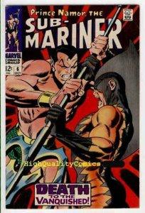SUB-MARINER #6, FN+, John Buscema,1968, Alantis, Tiger Shark
