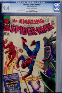 Amazing Spider-Man  #21 (Marvel)  CGC 9.4  Human Torch; 2nd app. The Beetle