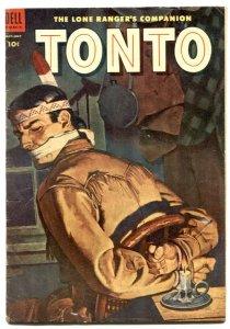 Tonto #15 1954-Dell Western-Lone Ranger's companion VG