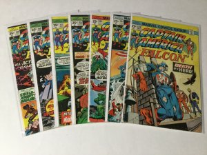 Captain America 183-188 190 Lot Good/very Good-fine/very Fine 3.0-5.0 Marvel
