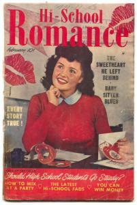 Hi-School Romance #3 1950- Baby Sitter Blues G