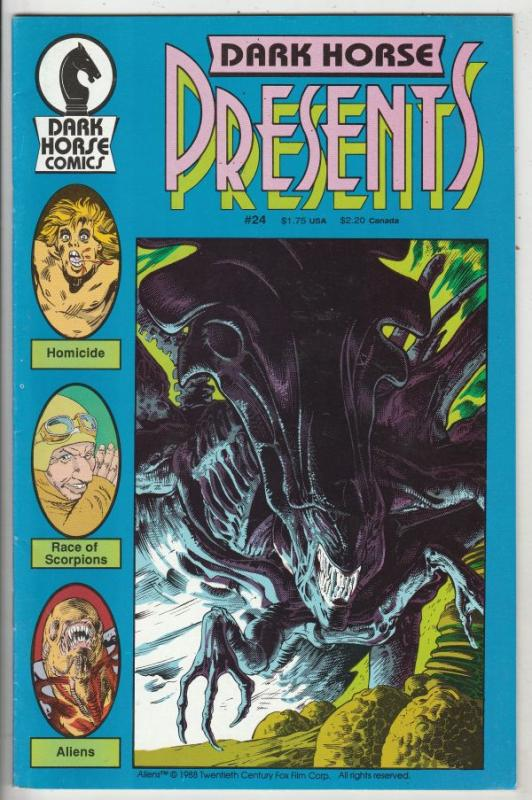Dark Horse Presents #24 (Nov-88) NM- High-Grade The Aliens