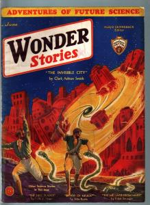 WONDER STORIES 1932 JUN-SCI FI PULP-CLARK ASHTON SMITH VG+