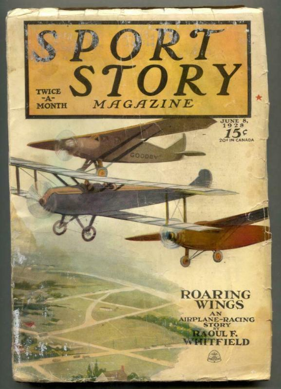 Sport Story Pulp June 8 1928- Roaring Wings G/VG