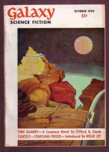 GALAXY SCIENCE FICTION 1950 #1-ASIMOV-FLYING SAUCERS FN/VF