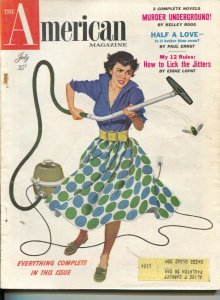 American Magazine 7/1954-vacuum vs bug cover-Kelly Roos pulp fiction-classic ...