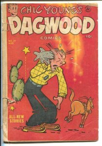 Dagwood #21 1952-Harvey-Chic Young-Blondie-Popeye-Little King-puzzle page-FR
