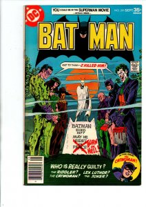 Batman #291 newsstand - Testimony of Catwoman - 1977 - Fine/Very Fine