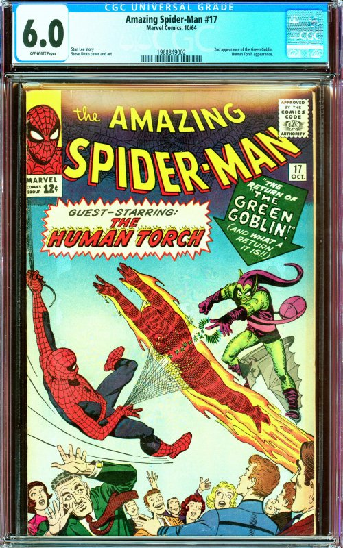 Amazing Spider-Man #17 CGC Graded 6.0 2nd Green Goblin