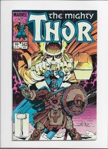 Thor #342 (1984) VF 8.0 Simonson, Odin App.!! JW221