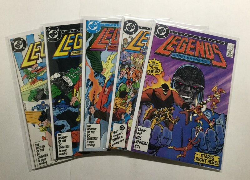 Legends 1 2 4 5 6 Lot Run Set Near Mint Nm Dc Comics