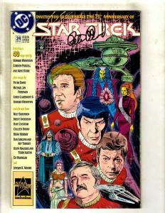Star Trek # 24 VF/NM DC Comic Book SIGNED Peter David Space Opera Kirk J372