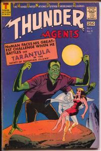 THUNDER Agents #9 1966-Tower Comics-Dynamo-Wood-No Man-Lightning-VG+