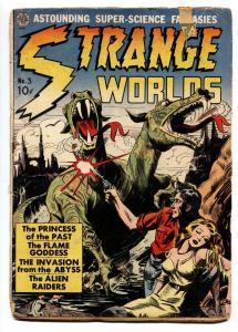 STRANGE WORLDS #3 comic book-FRAZETTA-WOOD-ORLANDO-PRE CODE G