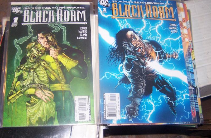 BLACK ADAM- THE DARK AGES  #1 & 2, DC 2007 52 COUNTDOWN
