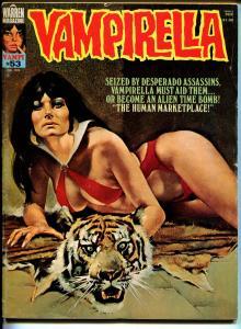 Vampirella #53 1976-Warren-Vampi cover-terror & horror stories-VG