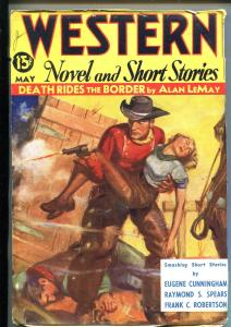 WESTERN NOVELS AND SHORT STORIES 05/1936-PULP FICTION-DAMSEL IN DISTRESS-vf-