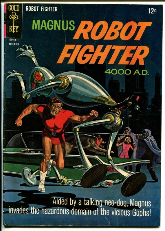 Magnus Robot Fighter #161966-Gold Key-Russ Manning-robot cover-VG