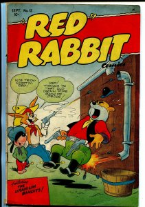 Red Rabbit #12 1949-Deerfield Pub-Uranium Bandits-funny animals-VG