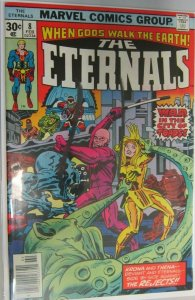The Eternals writing on cover #8 6.0 FN (1977)