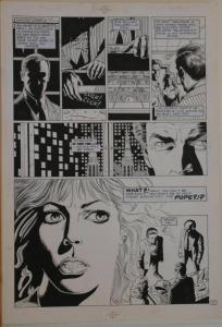 PAUL GULACY / DAN ADKINS original art, CODENAME DANGER  #4, pg 7, 11x17, Pope