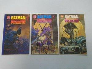 Batman vs. Predator set #1-3 Direct edition 8.0 VF (1991)