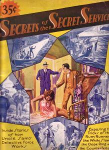 SECRETS OF THE SECRET SERVICE #1 DOPE RINGS RUM 1930 G